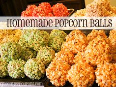 Love this  easy homemade popcorn-ball recipe from Queen Bee Coupons! http://www.ivillage.com/make-your-own-halloween-candy/3-a-546191