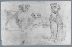 Dogs (from McGuire Scrapbook), 19th century. The Metropolitan Museum of Art, New York.