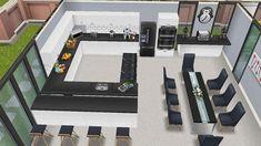 Casas The Sims Freeplay, Sims Freeplay Houses, Sims 4 Houses, Sims Free Play, Free Sims, Sims 4 Kitchen, Sims 4 House Plans, Sims 4 House Design, Casas The Sims 4
