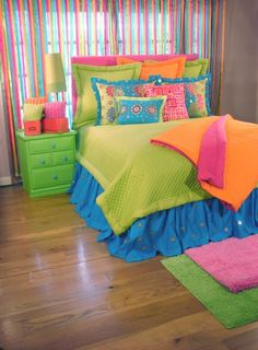 90 Beautiful Colorful Curtain Ideas To Make Amazing Scenery in Your Home Big Girl Rooms Amazing Beautiful Colorful Curtain Home Ideas Scenery Kids Room, Room Makeover, Room, Colorful Curtains, Awesome Bedrooms, Dream Bedroom, Home Decor, Bedroom Decor, Tween Girl Bedroom