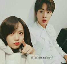 Jin and Jisoo