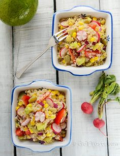 Quinoa Avocado Salad - refreshing and filling, great side dish for summer barbecues - diettaste.com