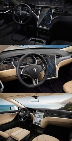 Tesla Model S Interior - what a magnificent machine.