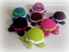 Ravelry: Itty Bitty Turtle pattern by Rachel Rigdon #amigurumi #pattern #craft