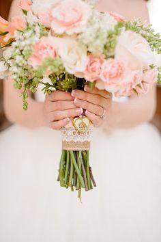 bouquet charm | Tucker Images #wedding #pinkwedding