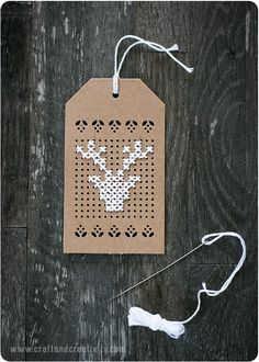 Point de croix étiquettes de noël - par Craft & Créativité