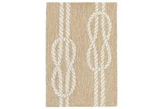 Home Accents Fortina Sailing Knot Indoor/Outdoor Doormat 2' x 3' by Ashley HomeStore, Tan