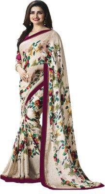 42da7f63f3 IndianEfashion Self Design, Floral Print, Printed Bollywood Georgette Saree (Multicolor)