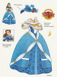 Muñeca de papel de Bella #LaBellaylaBestia #craft #muñeca #peques