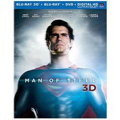 Man Of Steel (3D Blu-ray + Blu-ray + DVD + Digital HD) (Walmart Exclusive) (Widescreen)