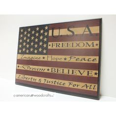 Americana Wall Decor Plaques Signs Warren Kimble 'inspired Colonial Flag' Framed Art Print  Flags