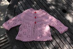 Ravelry: Easy Lace Raglan Jacket & Hat by Nazanin S. Fard
