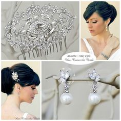 Bridal Accessory Inspiration Board created for Annette ~ Free Bridal Stylist Service ~ #bride #bridal #wedding #bridalhairaccessories #weddinghairaccessories #bridaljewelry #weddingjewelry #bridalstyle #bridalbeauty #bridalstylist