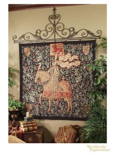 Image of Medieval Cavalier Tapestry Wall Tapestry, Medieval Tapestry, Large Furniture, Trippy, Worlds Largest, Vintage World Maps, Cavalier, Tapestries