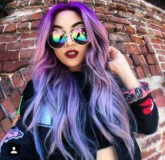 Purple hair x