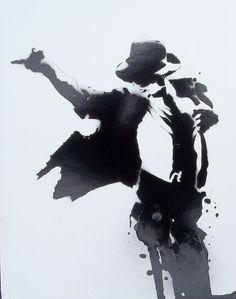 FRAMED Michael Jackson 8x11 Giclée Fine Art Print Illustration Signed by Artist. $13.00, via Etsy.