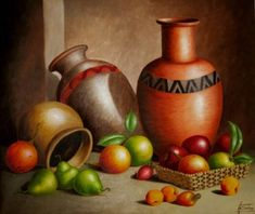 Still life oil paintings – Imagui – Lorraine Lacoste – Join in the world of pin Object Drawing, Still Life Oil Painting, Watercolor Landscape Paintings, Fruit Painting, Color Pencil Art, Still Life Art, Caravaggio, Fruit Art, Pastel Art