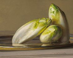 Jeffrey T. Larson Endive oil on panel 8x10 2007