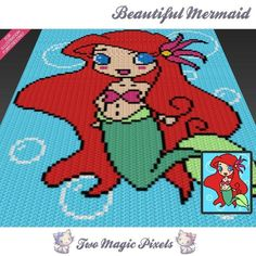 Beautiful Mermaid c2c crochet graph | Craftsy