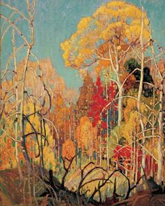 Autumn Orillia, Franklin Carmichael by Group Of Seven, Giclee on Canvas, Fine Art Print Art Paintings, Landscape Paintings, Landscapes, Landscape Pictures, Art And Illustration, Franklin Carmichael, Inspiration Artistique, Canadian Artists, Canadian Painters