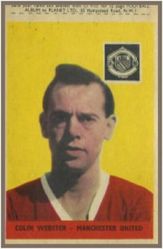 Colin Webster of Man Utd in 1958.