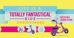 Life is a Totally Fantastical Ride! Enter for a chance to win prizes like Nutcase Helmets, scooters, Villy Customs bikes and paddle boards that make that ride even more fantastical