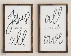 Embroidery Projects Jesus Paid It All All To Him I Owe - Christian Decor, Wood Signs - Christian Signs, Christian Decor, Scripture Wall Art, Scripture Signs, Jesus Paid It All, Handmade Signs, Pallet Signs, Diy Signs, Do It Yourself Home