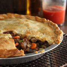 Meat and vegetables with a  no fail crust - a perfect meal for chilly fall days!