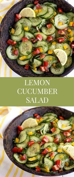 Fresh Lemon Cucumber Salad | Chelsea's Messy Apron