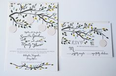 Vintage Garden Party Custom Wedding Invitations. $6.15, via Etsy.