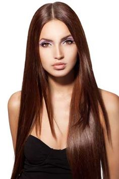 Super Smooth Long Silky Straight Chestnut Brown Lace Front Wig Synthetic Hair