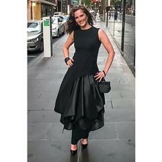 sadotna Melbourne fashion. black, urban fashion