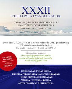 Capacitação para Educadores e Evangelizadores Espíritas em Araras - SP - http://www.agendaespiritabrasil.com.br/2017/01/12/capacitacao-para-educadores-e-evangelizadores-espiritas-em-araras-sp/