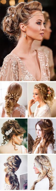 24 Greek Wedding Hairstyles For The Divine Brides :heart: Greek wedding hairstyles are ideal for warm-weather nuptials. See more: http://www.weddingforward.com/greek-wedding-hairstyles/ #weddings #hairstyles