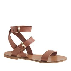 ✔Flat Sandal (nude/black/tan), also in metallic finishes like gold, silver, bronze, rose gold (different colors/textures)