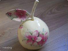 Декупаж - Кот и яблоки