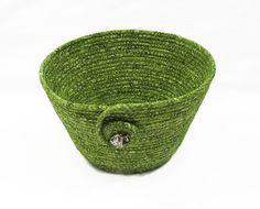 Green Coiled Fabric #Bowl #Basket by CentralFabrications on Etsy https://www.etsy.com/listing/219366311/green-coiled-fabric-bowl-basket?ref=teams_post&utm_content=bufferfbb28&utm_medium=social&utm_source=pinterest.com&utm_campaign=buffer #handmade #qqqetsy