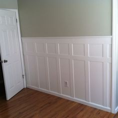 Our DIY Waynes coating! Only cost $11 for wood (4x8 sheet) - custom cut and routed each piece.