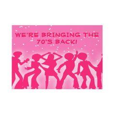 Pink Disco Theme 70's Party Custom Invitations from http://www.zazzle.com/disco+ball+invitations