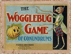 The Wogglebug Game of Conundrums. Salem, Mass.: Parker Bros., Inc., 1905. Based on Wizard of Oz author L. Frank Baum's second Oz story.