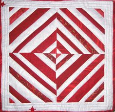 """Scandalous #3"" This red and white quilt was made from my scrapbag."