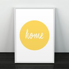 House art print, Housewarming art, Typography quote print, Positive poster, Quote print, Colorful print, Modern home decor, Scandinavian art