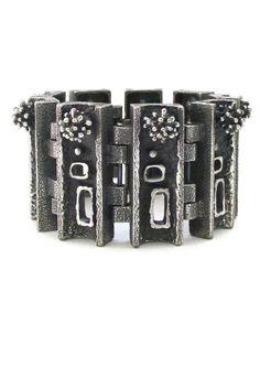 Guy Vidal massive 'urchins & windows' bracelet #bracelet #Vidal