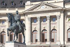 Bucharest Romania Central University Library of Bucharest Carol I Universitary Foundation romanian capital city architecture
