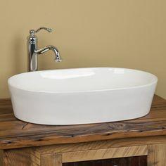 Norris Oval Porcelain Vessel Sink - Vessel Sinks - Bathroom Sinks - Bathroom