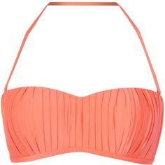 Seafolly Goddess Kiara Bustier ($86) ❤ liked on Polyvore featuring orange, women and seafolly