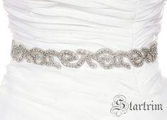 ANGELAR 2 Crystal wedding bridal beaded sash  belt by startrim, $65.00