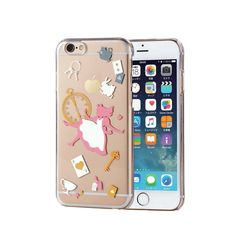 "Alice IN Wonderland Disney Iphone 6s 4 7"" Clear Hard Case Cover Rabbit Japan F S 