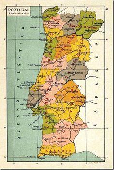Mapas utilizados nas escolas primárias Old Pictures, Old Photos, History Of Portugal, Nostalgia, Portuguese Culture, Old Maps, Air France, Arte Pop, Retro Futurism