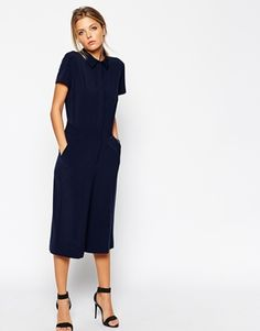 Enlarge ASOS Jumpsuit with Culotte and Shirt Detail